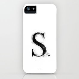 S. - Distressed Initial iPhone Case