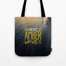 Evanescent Escape ~ Amber Waves Tote Bag