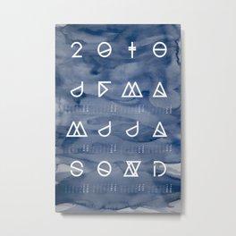 2018 Geometrical Calendar aquarelle ocean blue Metal Print