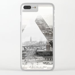 Stockholm anno 1904 Clear iPhone Case