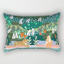 Chilling || #illustration #painting Rectangular Pillow