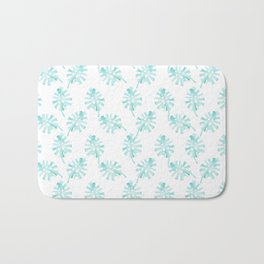 Light Green Palm Leaf Pattern - Tropico Bath Mat