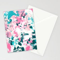 Everitt - abstract minimal painting home decor modern bright artistic decor canvas Stationery Cards