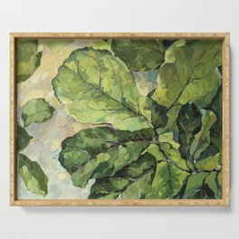 Green Leaves Serving Tray