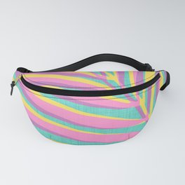 Bright Tropical Palm Fanny Pack