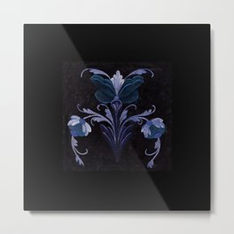 Antique Flowers No.1d by Kathy Morton Stanion Metal Print