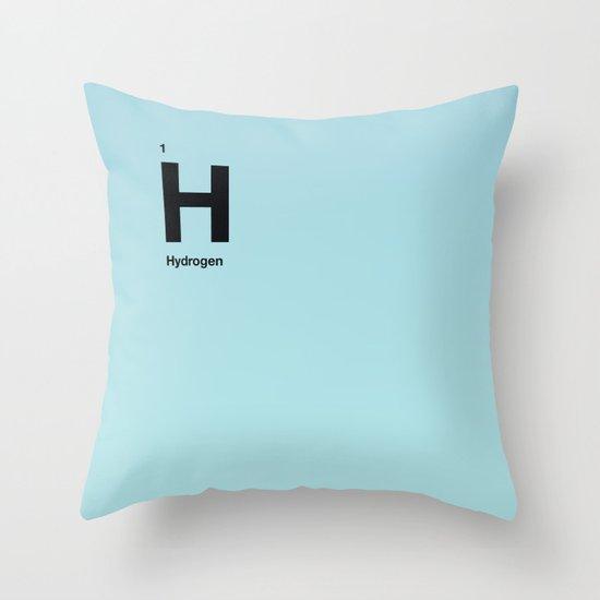 Hydrogen Throw Pillow
