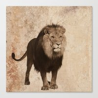 lion Canvas Prints featuring Lion by haroulita