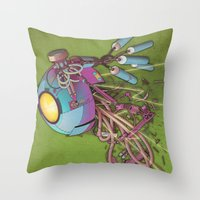 the flash Throw Pillows featuring Flash by Jason Gamber