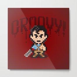 Evil Dead Pixels Metal Print