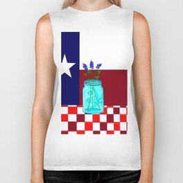 Texas Flag and Blue Bonnets Biker Tank