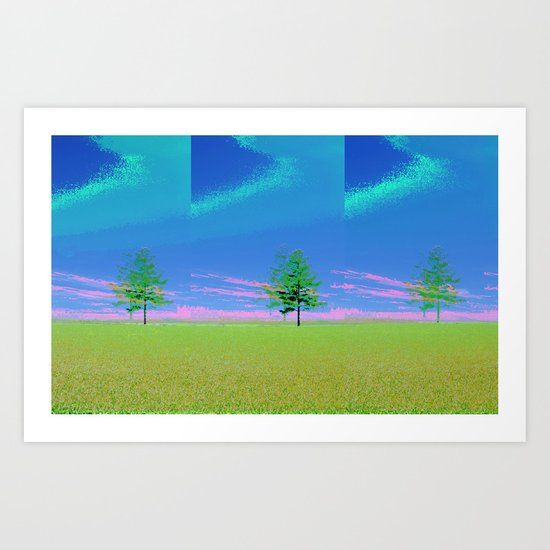 triple tree  Art Print