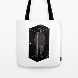 Astronaut in a box Tote Bag