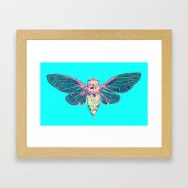 Flying Cicada Framed Art Print