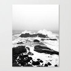 Waves Crash Canvas Print