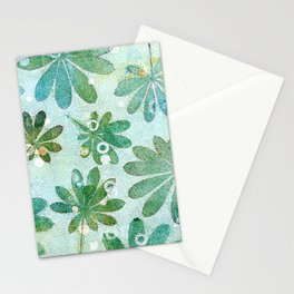 Dreamy green flowers Stationery Cards