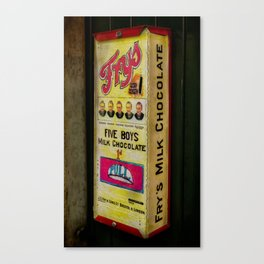 Vintage Chocolate Vending Canvas Print