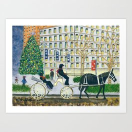 Carriage Ride on Woodward Avenue Art Print