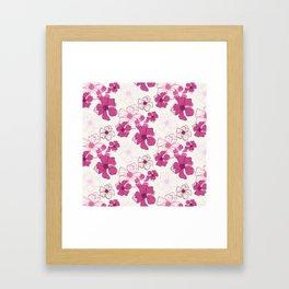 Pink Poppy Bash Framed Art Print