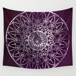 Fire Blossom - Violet Wall Tapestry
