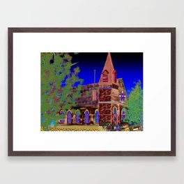 church Framed Art Print