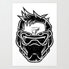 Over Watch Soldier: 76 (Black) Art Print