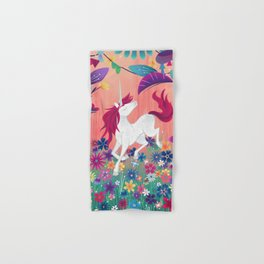 Floral Frolic Unicorn Hand & Bath Towel