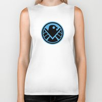 agents of shield Biker Tanks featuring Friendly New SHIELD by Arne AKA Ratscape