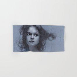 Behind greyness - pencil drawing on paperboard Hand & Bath Towel