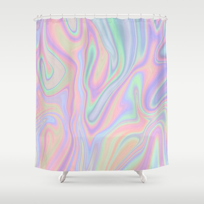 Attirant Liquid Colorful Abstract Rainbow Paint Shower Curtain
