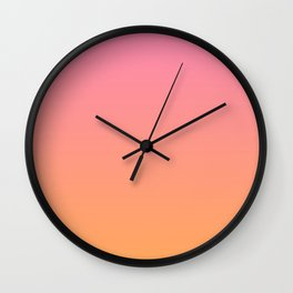 Pink & Orange Ombre Wall Clock