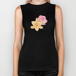 Pink Rose & Day Lily Biker Tank