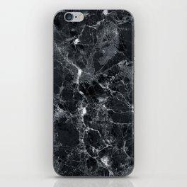 Black marble texture iPhone Skin