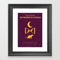 No101-3 My HP - PRISONER OF AZKABAN minimal movie poster Framed Art Print