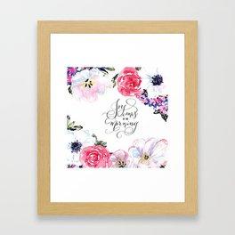 Joy - Psalm 30:5 Framed Art Print