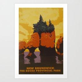 New Brunswick Travel Poster Art Print