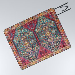 N131 - Heritage Oriental Vintage Traditional Moroccan Style Design Picnic Blanket