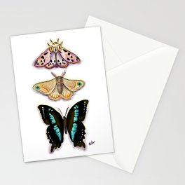 Magical Trio Butterfly and Moth_ Pink & Blue  Stationery Cards