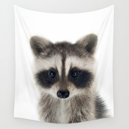 Baby Racoon Wall Tapestry