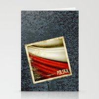 poland Stationery Cards featuring STICKER OF POLAND flag by Lulla