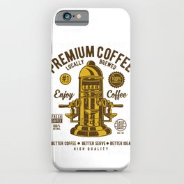 Classic Coffee Maker - Locally Brewed iPhone Case