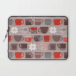 Snow Day Mugs - Chocolate Laptop Sleeve