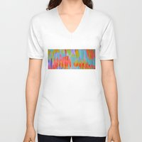 pastel V-neck T-shirts featuring Pastel by elikourY