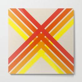 Baeserta - Colorful Abstract Art X Shape Metal Print