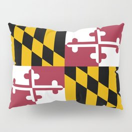 Maryland State Flag, Hi Def image Pillow Sham