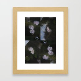 Abstract with geraniums Framed Art Print