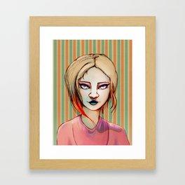 Pale Girl Framed Art Print