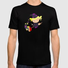 witch MEDIUM Mens Fitted Tee Black