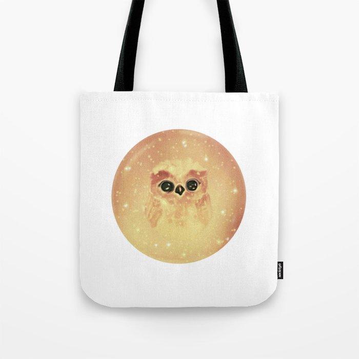 baby owl white Tote Bag