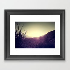 Landscape Sunset Framed Art Print
